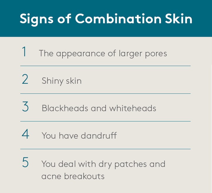 Signs of Combination Skin