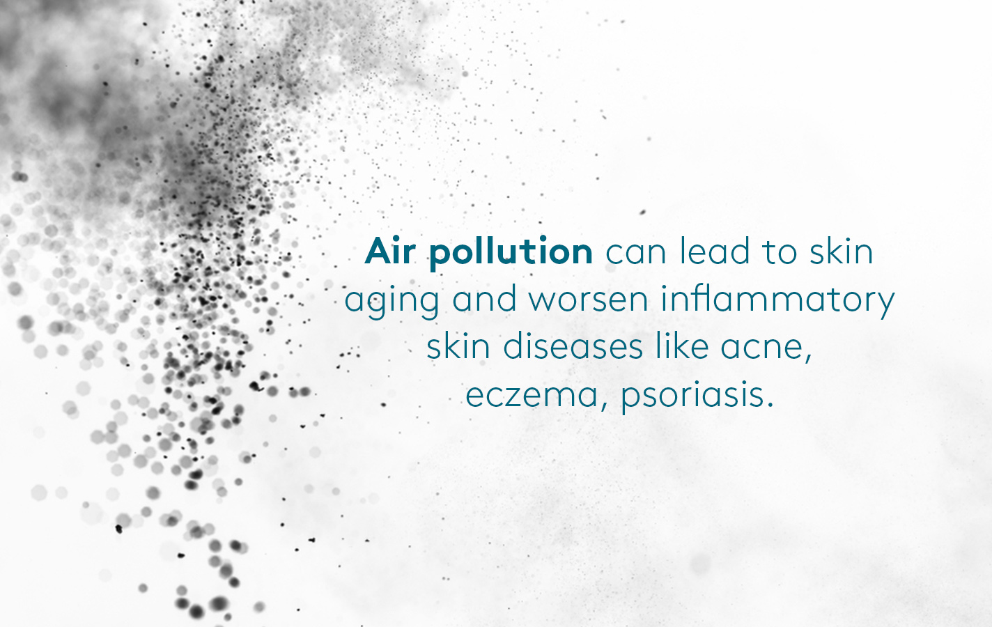 Need for anti pollution skin care for skin diseases