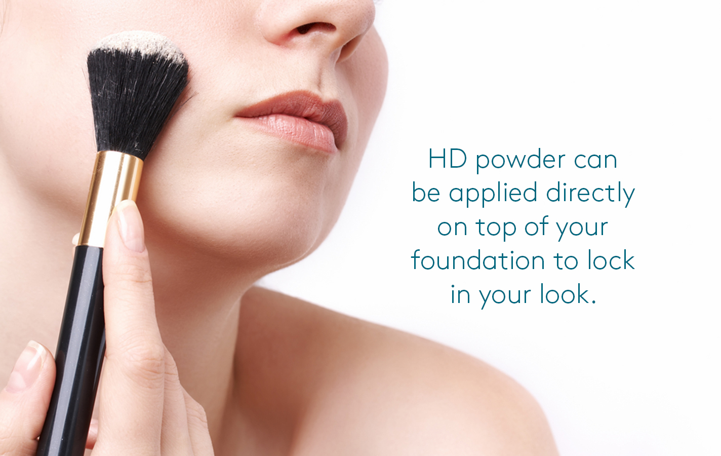 How to apply HD setting powder