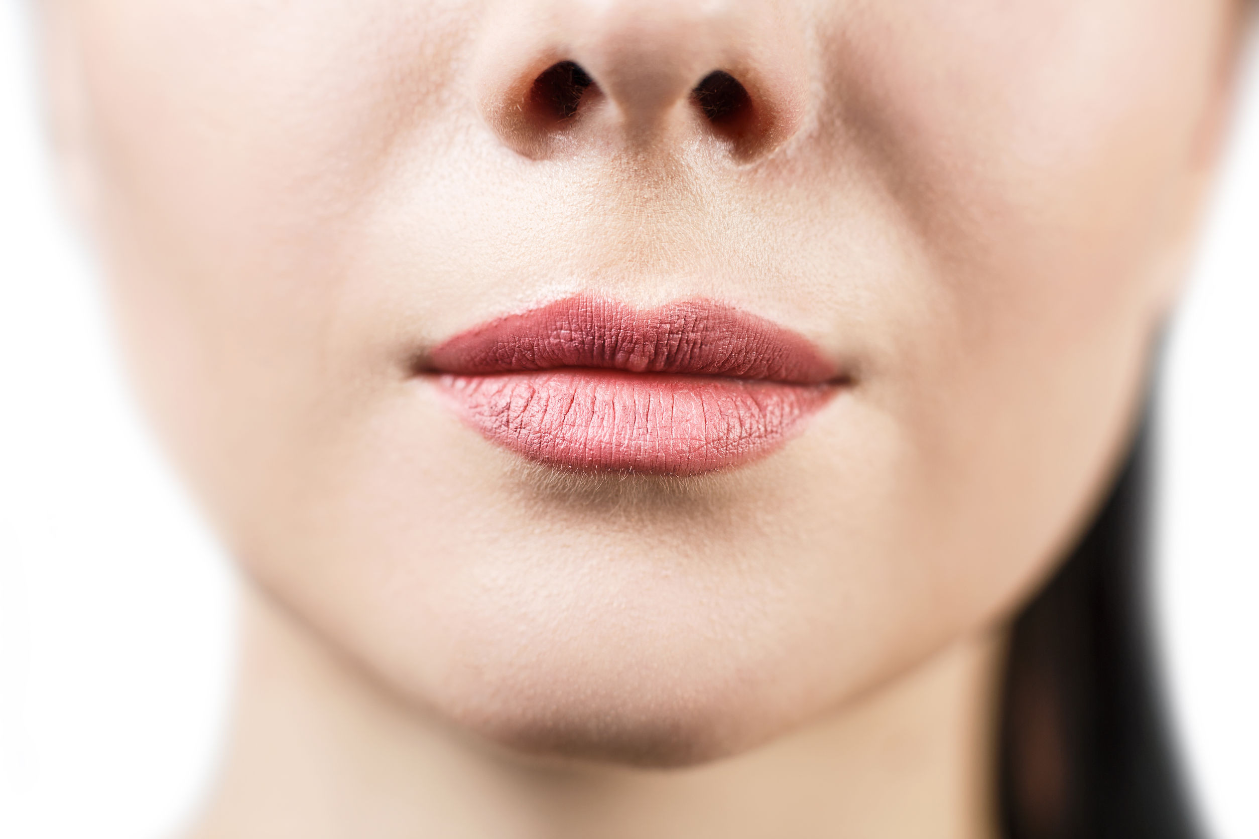 Woman with lip lines
