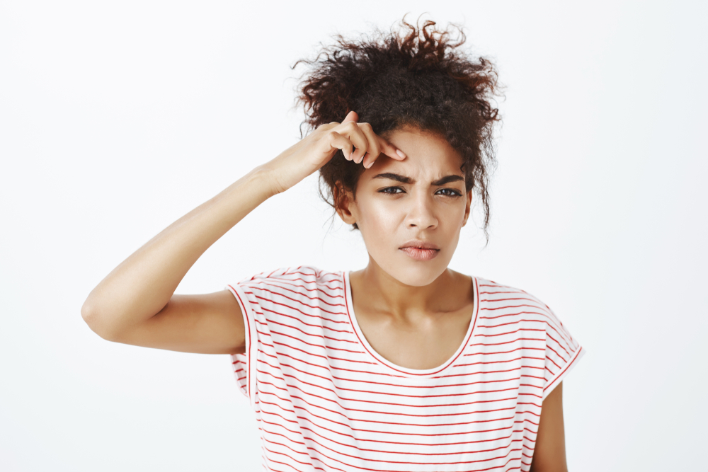 Girl showing best skin care routine for 30s