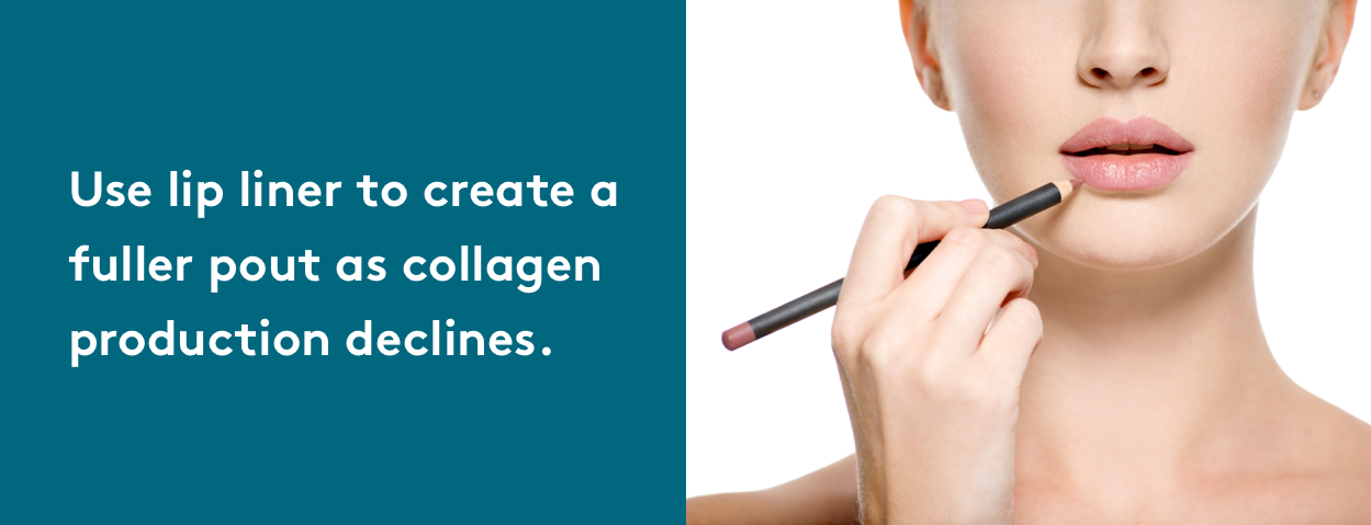 look younger with lip liner